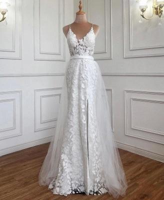 Weiße Abendkleider mit Spitze | Abiballkleider Günstig Online_4