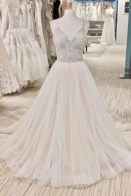 Luxus Brautkleider A Linie | Hochzeitskleider mit Glitzer_1