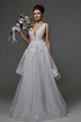 Brautkleider Lang V Ausschnitt | Hochzeitskleider A Linie