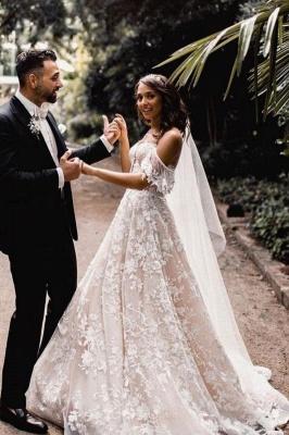 Wunderschöne Hochzeitskleider A Linie Spitze | Brautkleider Günstig Online