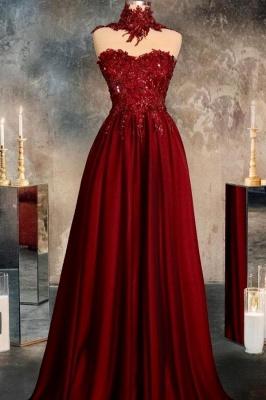 Rote Abendkleider Lang Glitzer | Abiballkleider Online Kaufen