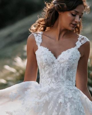Boho Hochzeitskleider A Linie Spitze   Brautkleider Günstig Online_3