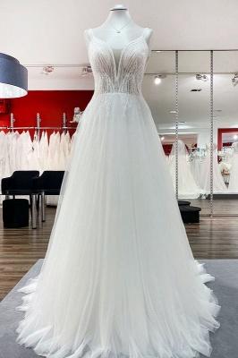 Brautkleid A Linie Schlicht | Hochzeitskleider Günstig Online