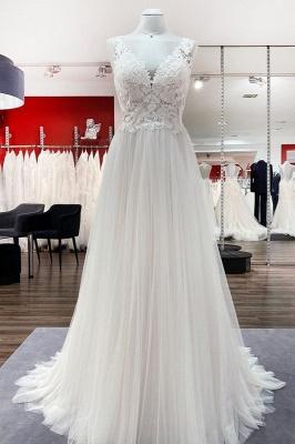 Elegante Hochzeitskleider Mit Spitze | Schlichtes Brautkleid A Linie