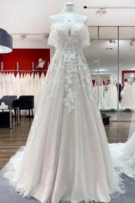 Neue Hochzeitskleider A Linie | Brautkleider mit Spitze