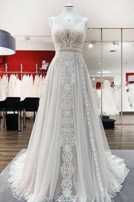 Modern Hochzeitskleider A Linie Spitze | Brautkleider Günstig