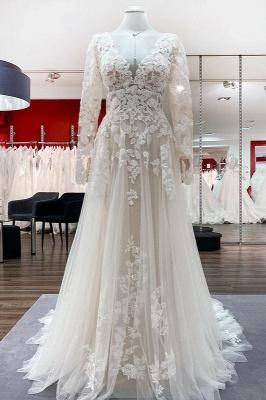 Designer Hochzeitskleider Mit Ärmel | Brautkleider A Linie Spitze