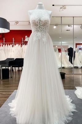 Brautkleider A linie Cream | Hochzeitskleider mit Spitze