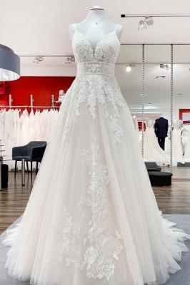 Modern Brautkleider A Linie | Hochzeitskleider mit Spitze