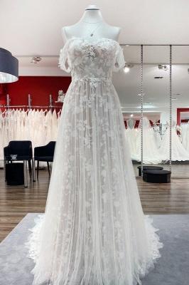 Boho Hochzeitskleider A Linie Spitze | Brautkleider Günstig
