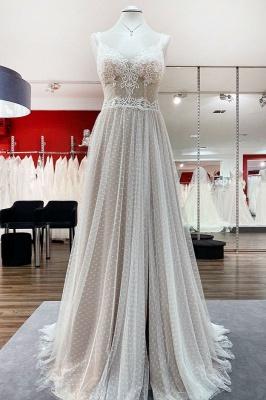 Schlichte Hochzeitskleider Günstig | Brautkleider A Linie Mit Spitze