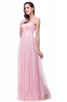 Schlichte Abiballkleider | Abendkleid Lang Rosa_4