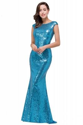 Blaue Abendkleider Lang Glitzer   Abiballkleider Günstig_6