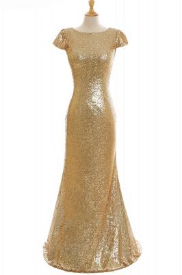 Gold Abendkleider Lang   Abiballkleider mit Glitzer_10