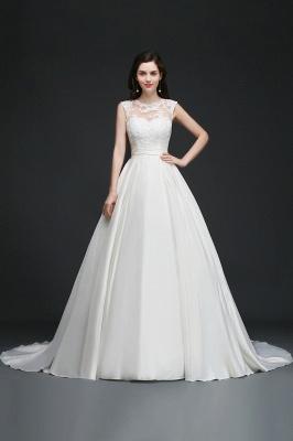 Schlichtes Hochzeitskleid | Brautkleider A Linie Online_6