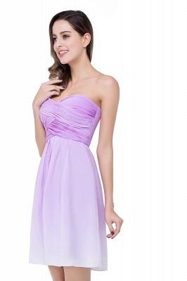 Lavender Cocktailkleider kurz   Schlichtes Abendkleid Online_4