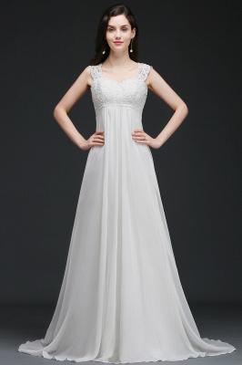 Schlichtes Brautkleid | Chiffon Hochzeitskleider Günstig Online