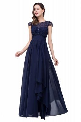 Schlichtes Abendkleid Navy Blau | Abiballkleider Lang Günstig_17