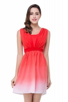 Schlichtes Abendkleid Rot | Cocktailkleider Kurz_2