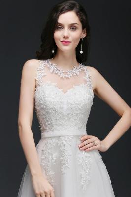 Schlichtes Hochzeitskleid A Linie | Brautkleider mit Spitze_5