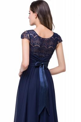 Schlichtes Abendkleid Navy Blau | Abiballkleider Lang Günstig_12