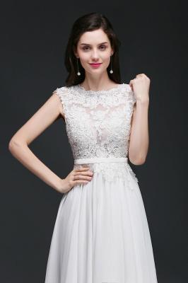 Schlichtes Brautkleid Günstig | Hochzeitskleider A Linie_7