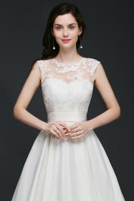 Schlichtes Hochzeitskleid | Brautkleider A Linie Online_8