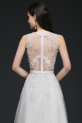Schlichtes Hochzeitskleid A Linie | Brautkleider mit Spitze_10