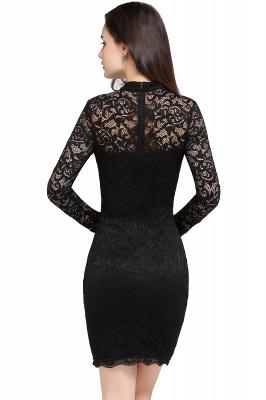 Schwarzes Cocktailkleid   Abendkleider mit Ärmel_3