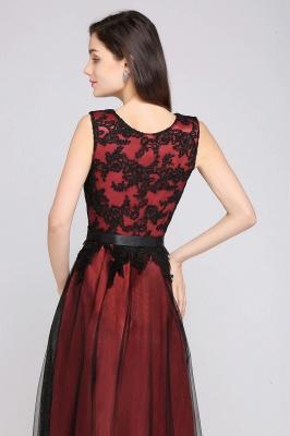 Abendkleider Rot Schwarz | Abiballkleider Lang Günstig_10