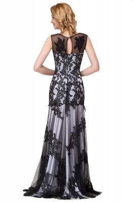 Designer Abendkleider mit Spitze | Abiballkleider Lang Schwarz_14