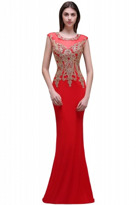 Rotes Abendkleid Lang   Günstige Abiballkleider mit Glitzer_1