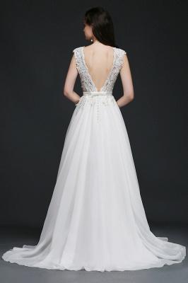 Schlichtes Brautkleid Günstig | Hochzeitskleider A Linie_4
