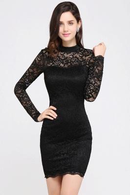 Schwarzes Cocktailkleid   Abendkleider mit Ärmel_5