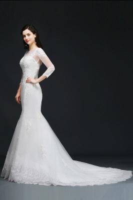 Schliches Brautkleid Meerjungfrau | Hochzeitskleider mit Spitze_4