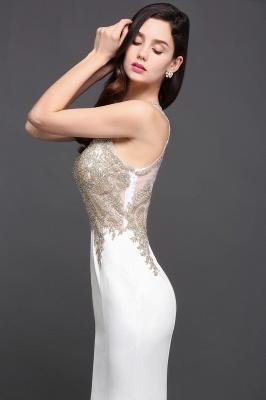 Abendkleider Lang Weiß | Abiballkleider mit Glitzer_5