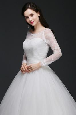 Schlichtes Hochzeitskleid mit Spitze | Prinzessin Brautkleider_4