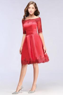 Rote Cocktailkleider Kurz | Abendkleider Günstig_9