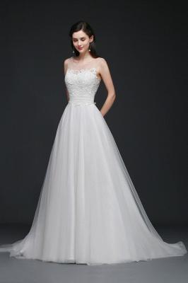 Schlichtes Brautkleid Online | Hochzeitskleid A Linie_2