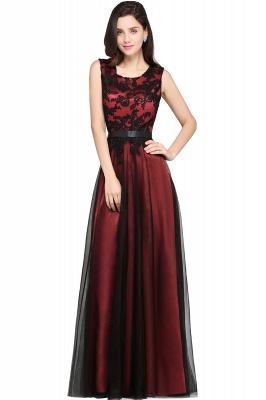 Abendkleider Rot Schwarz | Abiballkleider Lang Günstig_4
