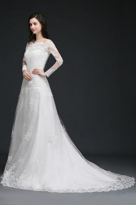 Elegante Hochzeitskleider mit Ärmel   Brautkleid A Linie_4