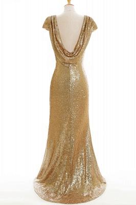 Gold Abendkleider Lang   Abiballkleider mit Glitzer_9