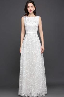 Abendkleider mit Spitze | Abiballkleider Lang Weiß
