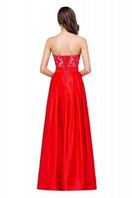 Rote Abendkleider mit Spitze   Abiballkleider Lang Günstig_3