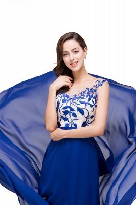 Blaue Abendkleider Lang Günstig | Chiffon Kleider Damenmoden_8