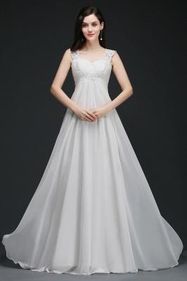 Schlichtes Brautkleid | Chiffon Hochzeitskleider Günstig Online_4