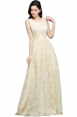 Gelb Abendkleid Lang V Ausschnitt | Abiballkleider mit Spitze_1