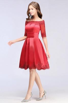 Rote Cocktailkleider Kurz | Abendkleider Günstig_10