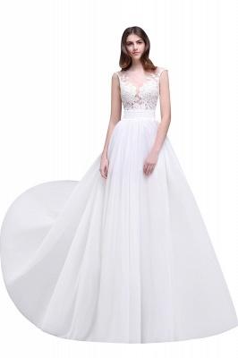 Schlichtes Brautkleid | Chiffon Hochzeitskleider mit Spitze_1