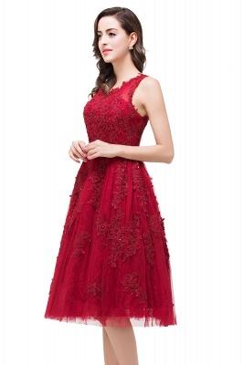 Rotes Cocktailkleider Kurz | Abendkleider mit Spitze_8